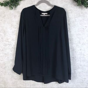 Stitch Fix 41 Hawthorn Navy Pleated Front Blouse
